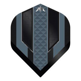 Mission - Temple - No 2 Standard - 100 Micron - Black/Grey - Dart Flights