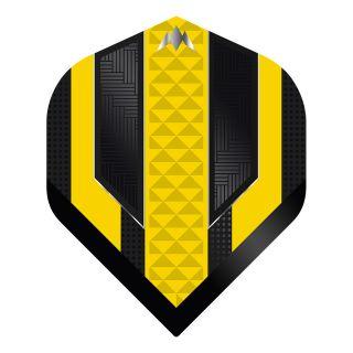 Mission - Temple - No 2 Standard - 100 Micron - Black/Yellow - Dart Flights