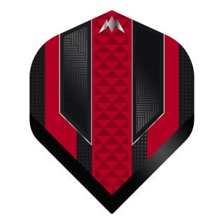 Mission - Temple - No 2 Standard - 100 Micron - Black/Red - Dart Flights