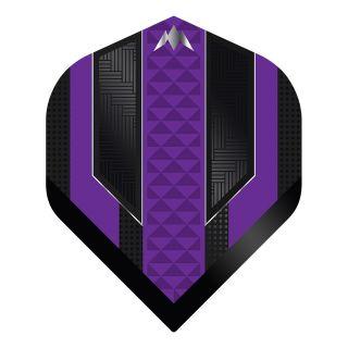 Mission - Temple - No 2 Standard - 100 Micron - Black/Purple - Dart Flights