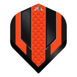 Mission - Temple - No 2 Standard - 100 Micron - Black/Orange - Dart Flights