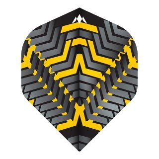 Mission - Vex - No 2 Standard - 100 Micron - Black/Yellow - Dart Flights
