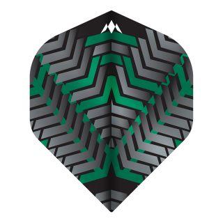 Mission - Vex - No 2 Standard - 100 Micron - Black/Green - Dart Flights