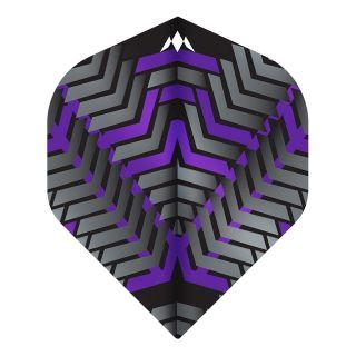 Mission - Vex - No 2 Standard - 100 Micron - Black/Purple - Dart Flights