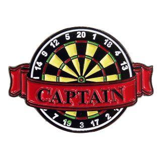 Darts Pin Badges -Enamel Pin Badge - Banner - Captain - M0004