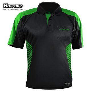 Harrows Vivid Black and Green Dart Shirt - S-5XL
