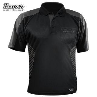 Harrows Vivid Black and Grey Dart Shirt - S-5XL