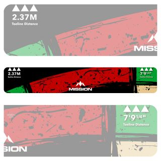 Mission Throw Line Oche - Professional Toeline Oche - Durable Adhesive - Heavy Duty - Double Top