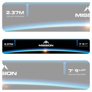 Mission Throw Line Oche - Professional Toeline Oche - Durable Adhesive - Heavy Duty - Horizon