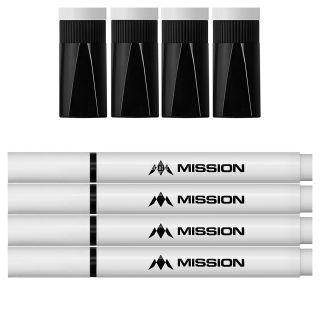 Mission Marker Pens - Dry Wipe - Whiteboard Pens - Pack of 4 - Black