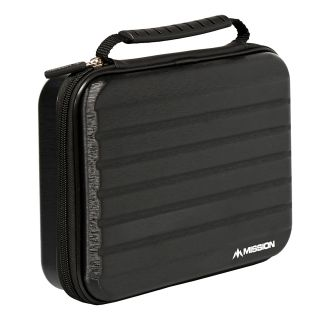 Mission ABS-4 Darts Case - Strong Protection - Extra Large - Metallic Black - X0124