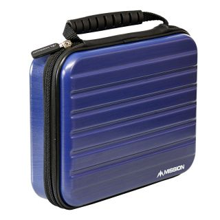 Mission ABS-4 Darts Case - Strong Protection - Extra Large - Metallic Dark Blue - X0127