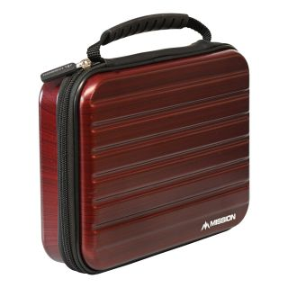 Mission ABS-4 Darts Case - Strong Protection - Extra Large - Metallic Dark Red - X0128