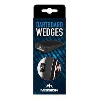 Mission - Dartboard Wedges - Black Silica - Board Packer - Pack of 8 - Black  - X0138
