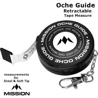Mission Oche Guide - Easy to Use Dartboard Setup Measurements - Throw Line - Retractable Tape Measure - X0143