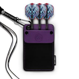 Shot Dexter Dart Wallet-Purple Trim - X0160