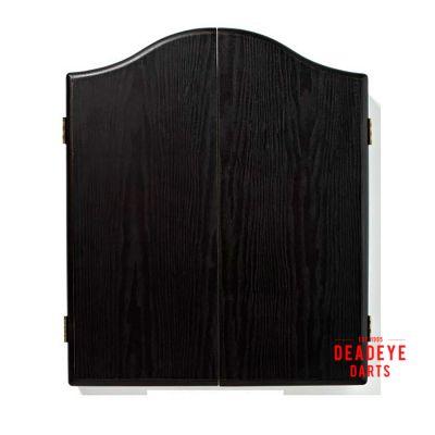 Winmau Plain Black Cabinet with Dartboard plus Optional Accessories