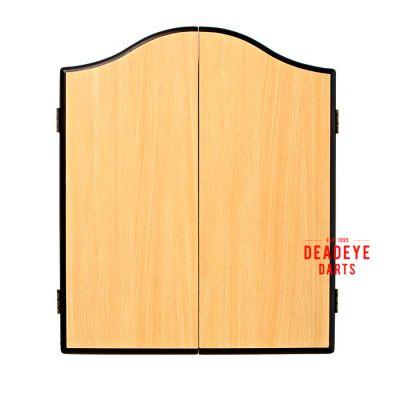 Winmau Beechwood Cabinet with Dartboard plus Optional Accessories